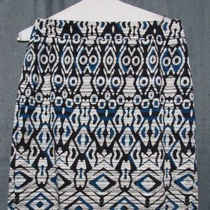 Geometric Pencil Skirt